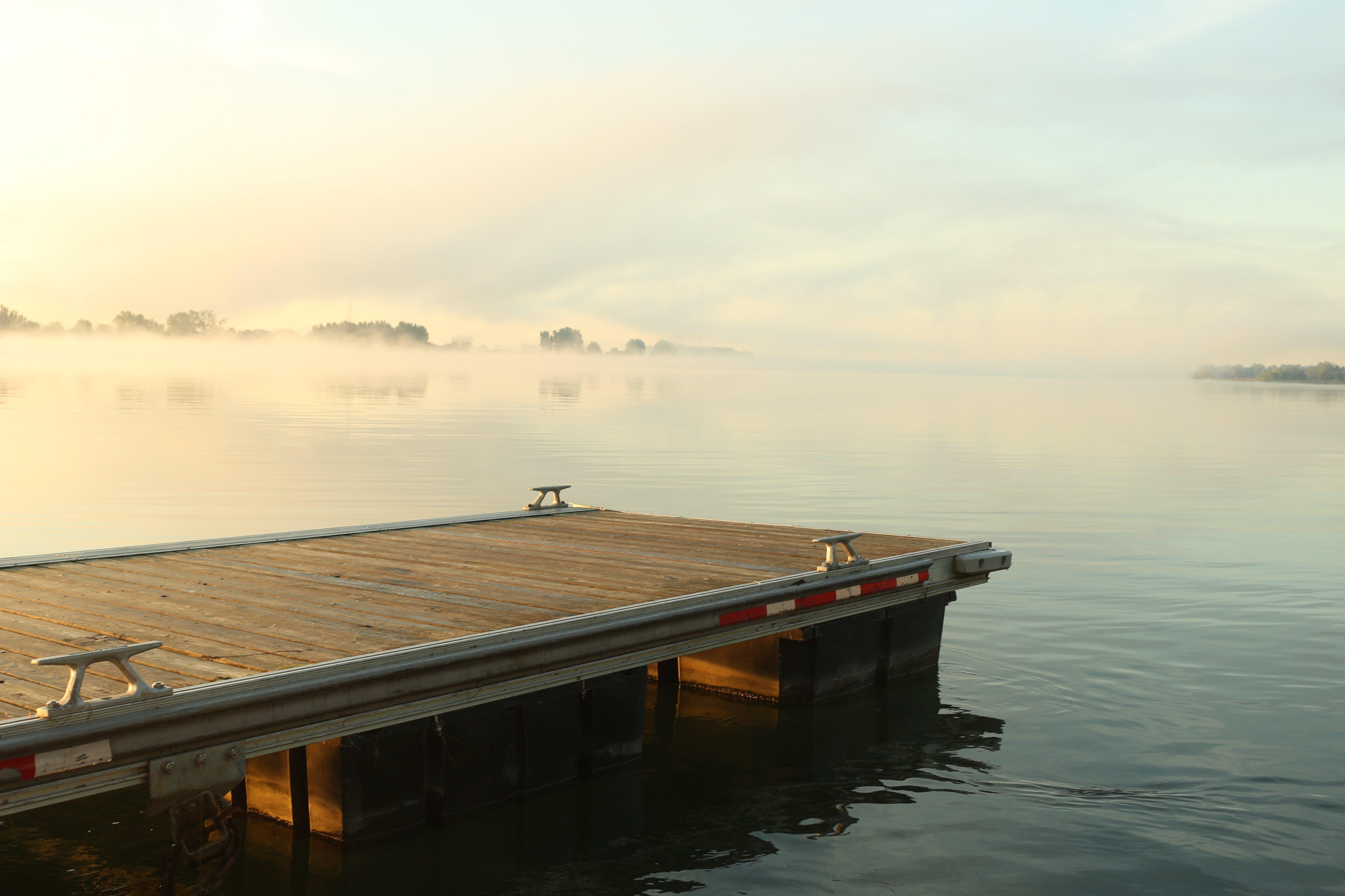 clouds, daylight, dock