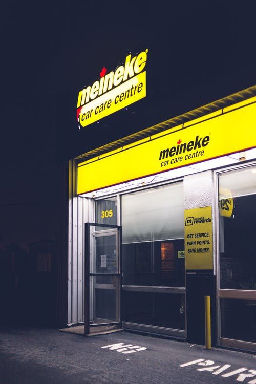 Yellow and Black Store Front