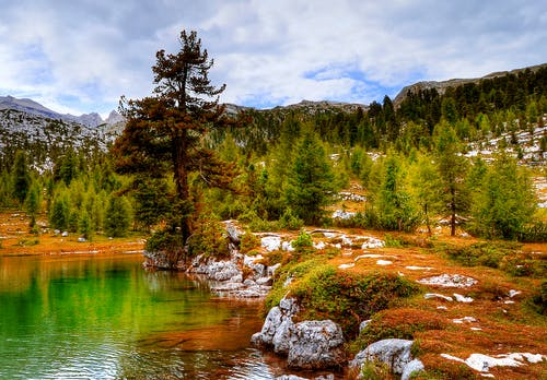 Ingyenes stockfotó fák, felhők, festői, hegyek témában