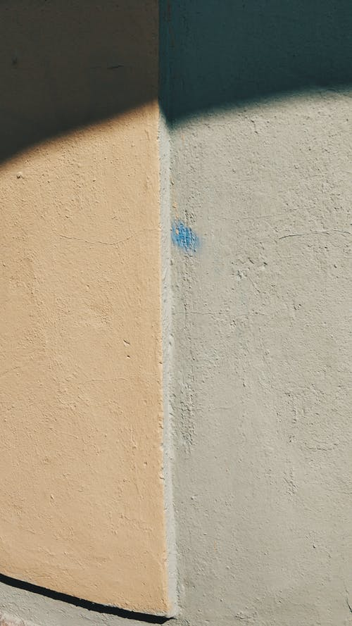 Painted Concrete Wall With Two Colors