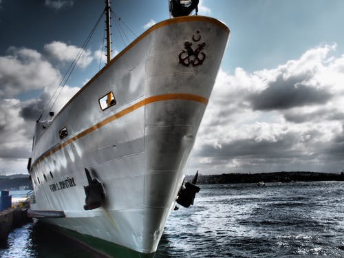 Ingyenes stockfotó dokk, ég, felhők, hajó témában