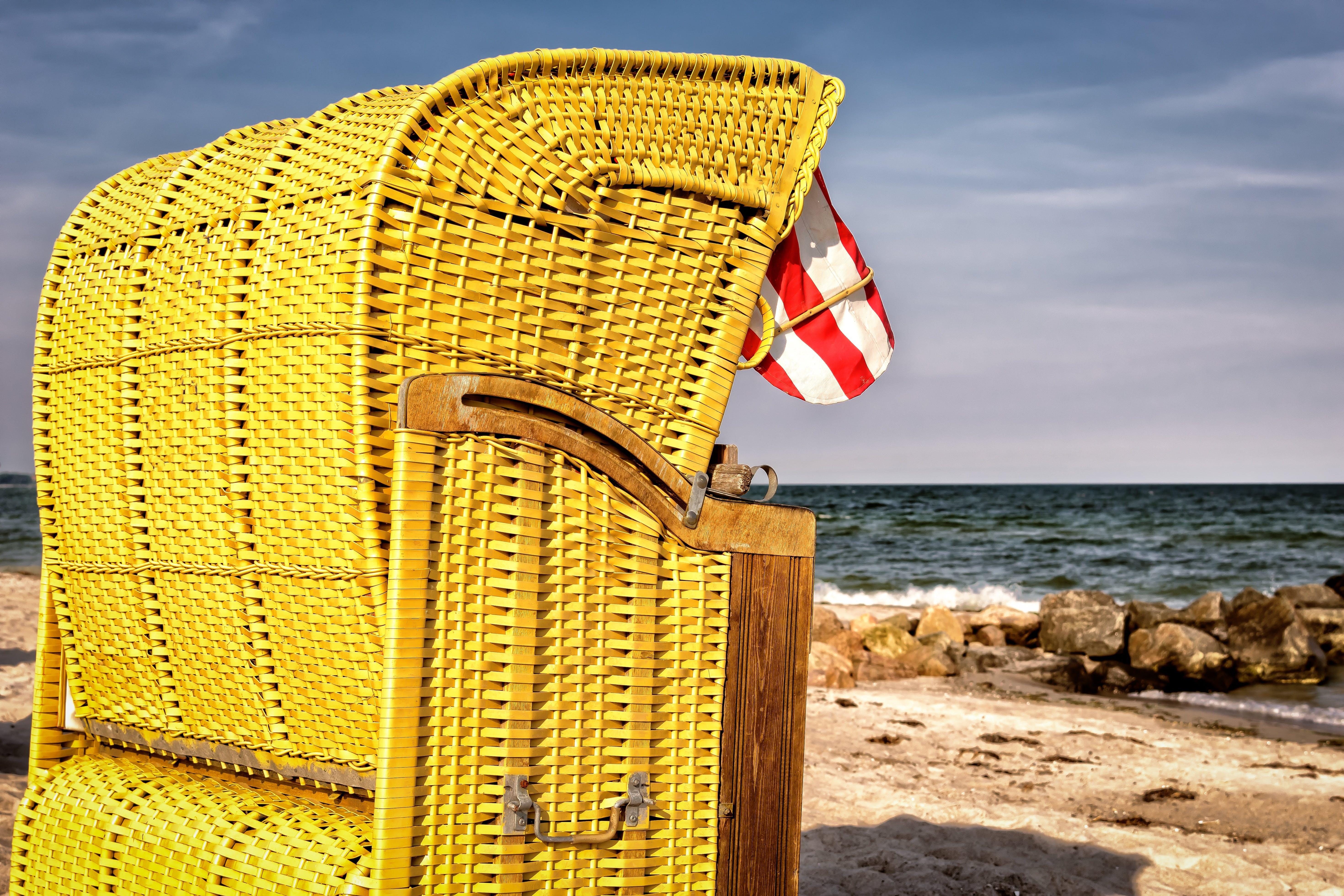 bank, beach, beach chair