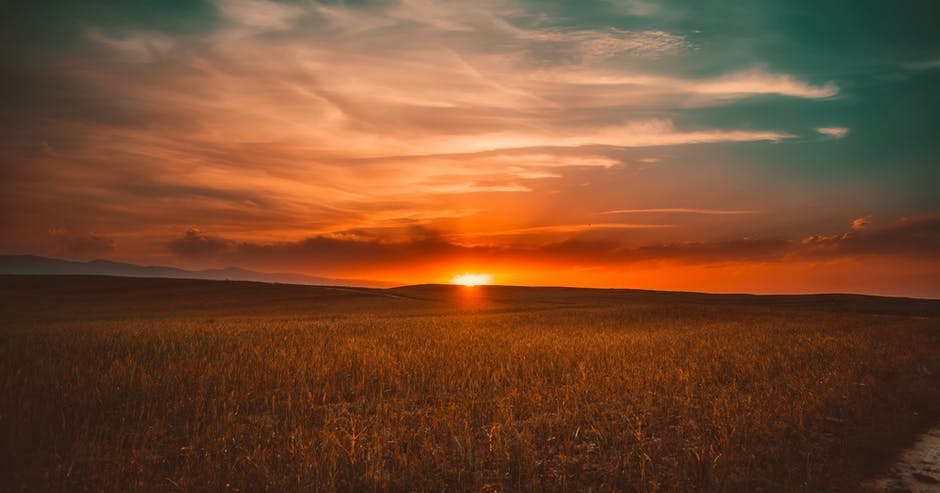 Clouds cropland crops dawn