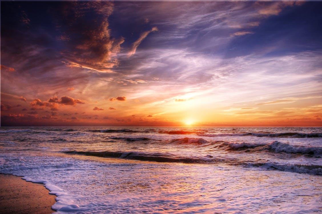 bãi cát, bầu trời, biển