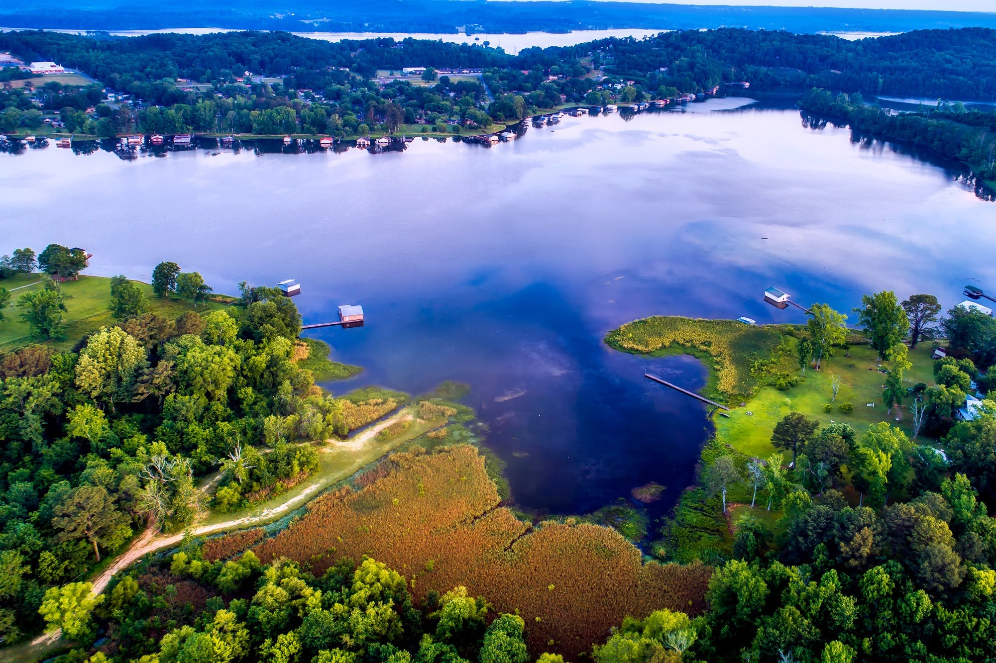aerial view, alabama, bay