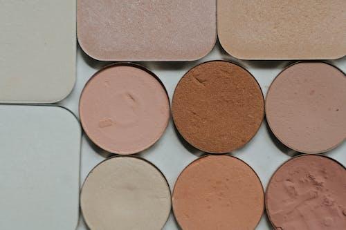 Brown Powder on White Ceramic Plate