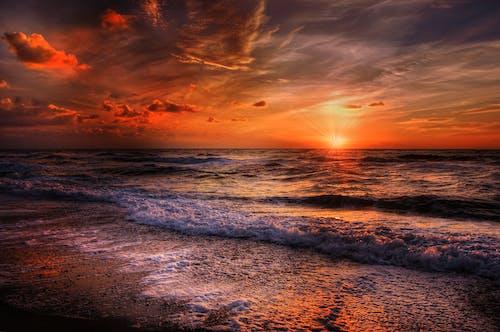 Photos gratuites de bord de mer, ciel, coucher de soleil, eau