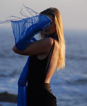Free stock photo of sea, person, beach, woman