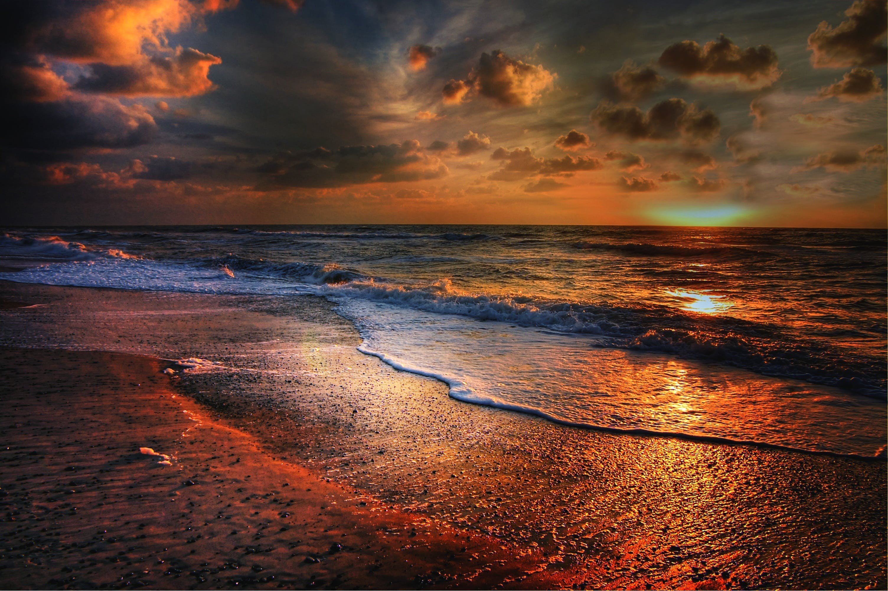 Sea during Sunset