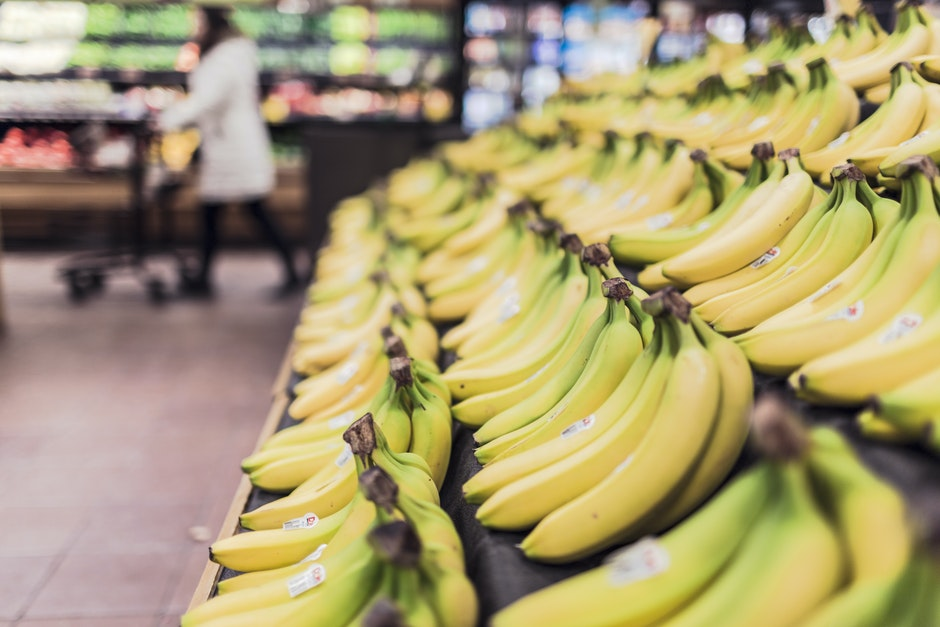 bananas, fruits, grocery