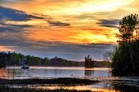 fishing, dawn, landscape