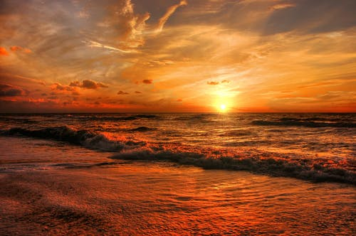 Безкоштовне стокове фото на тему «берег, берег моря, блакитне небо, вечір»