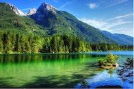 sea, mountains, nature