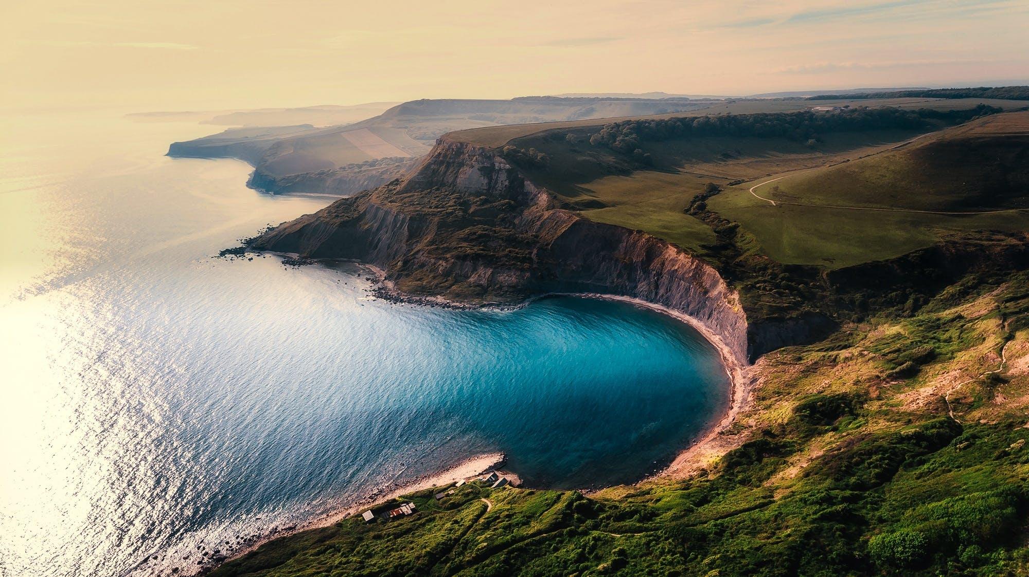 aerial view, beach, beautiful