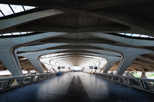 Free stock photo of light, bridge, metal, ceiling