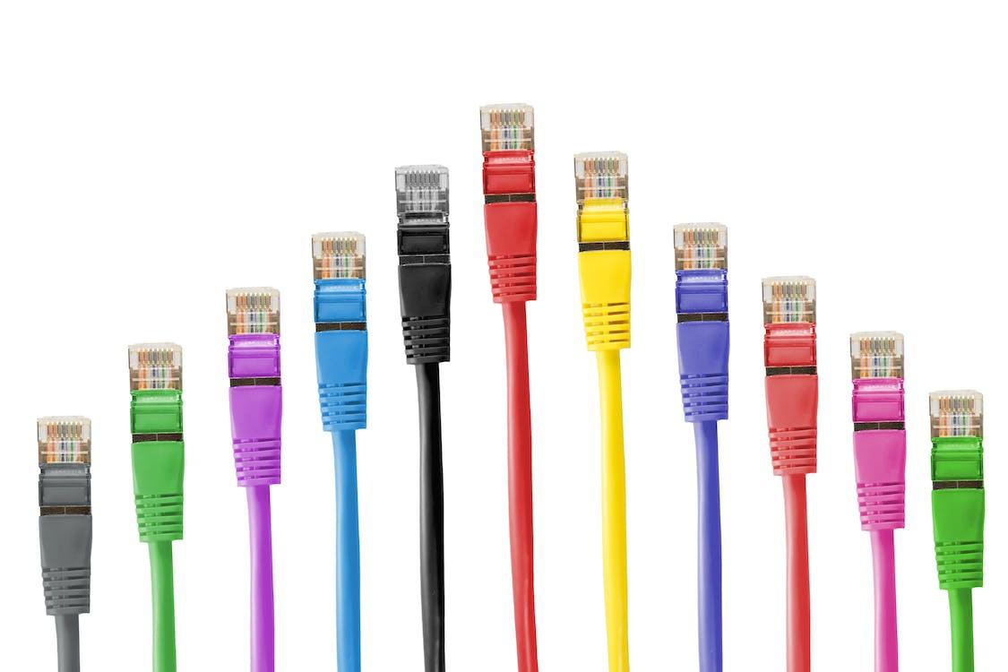 barevný, propojovací kabely, rj-45