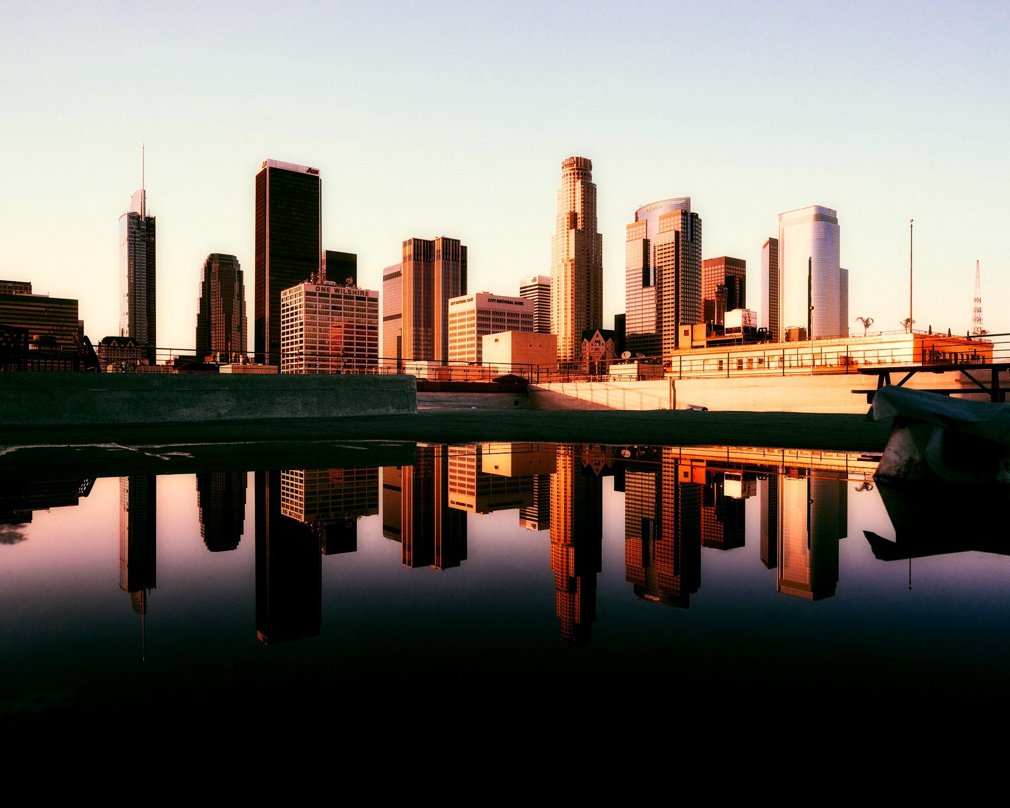 Free stock photo of city, sky, sunset, water