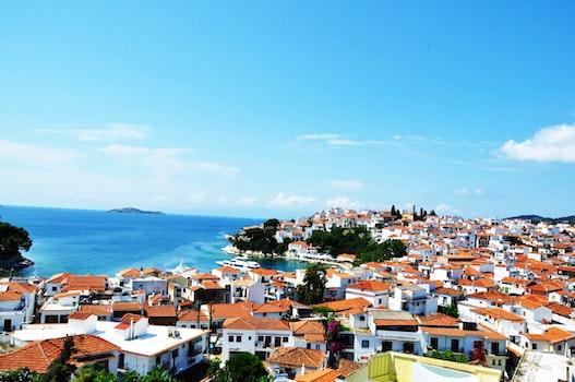 Free stock photo of sea, landscape, houses, beach