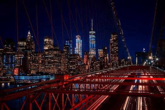 Free stock photo of night, skyline, dark, buildings