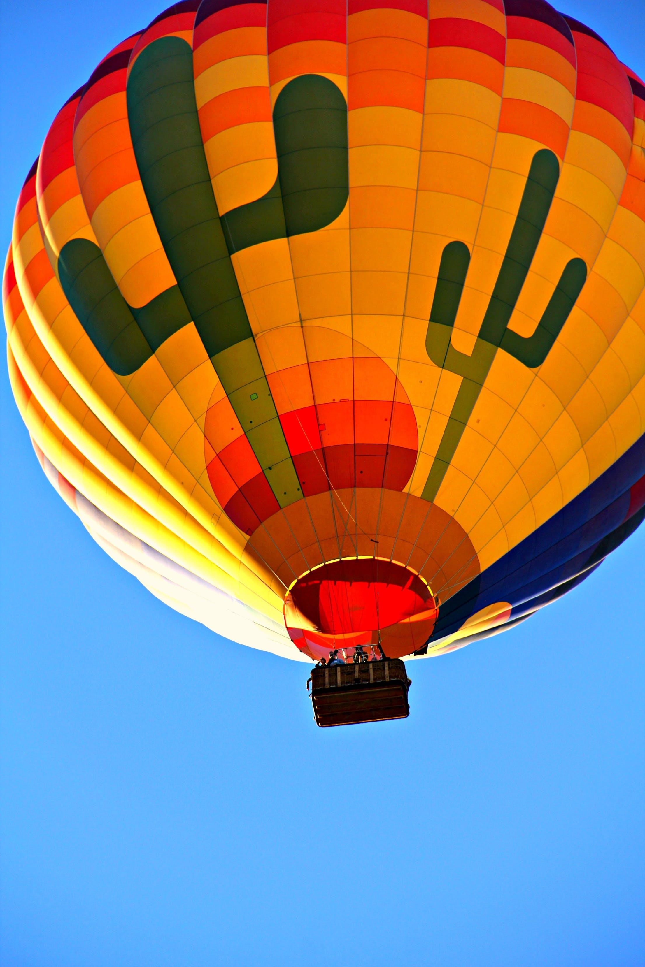 Orange Blue Yellow and Green Hot Air Balloon