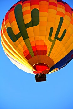 Orange Blue Yellow and Green Hot Air Balloon