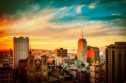 カリフォルニア, ゴールデンゲートブリッジ, サンフランシスコ, シティの無料の写真素材