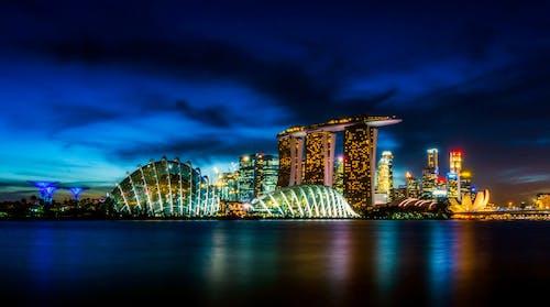Foto stok gratis air, Arsitektur, Asia, awan
