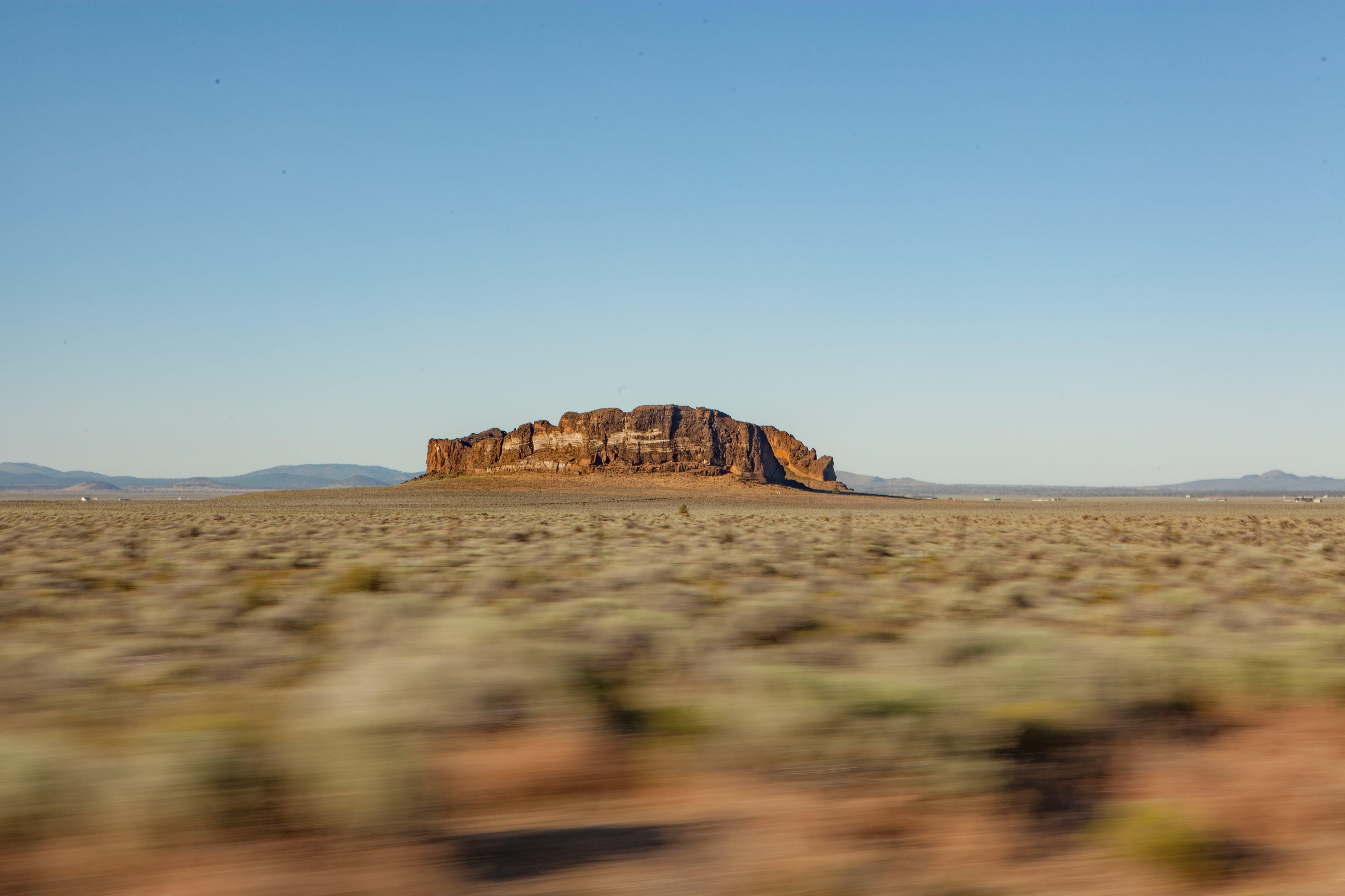Free stock photo of cowboy, desert, fort rock, landscape
