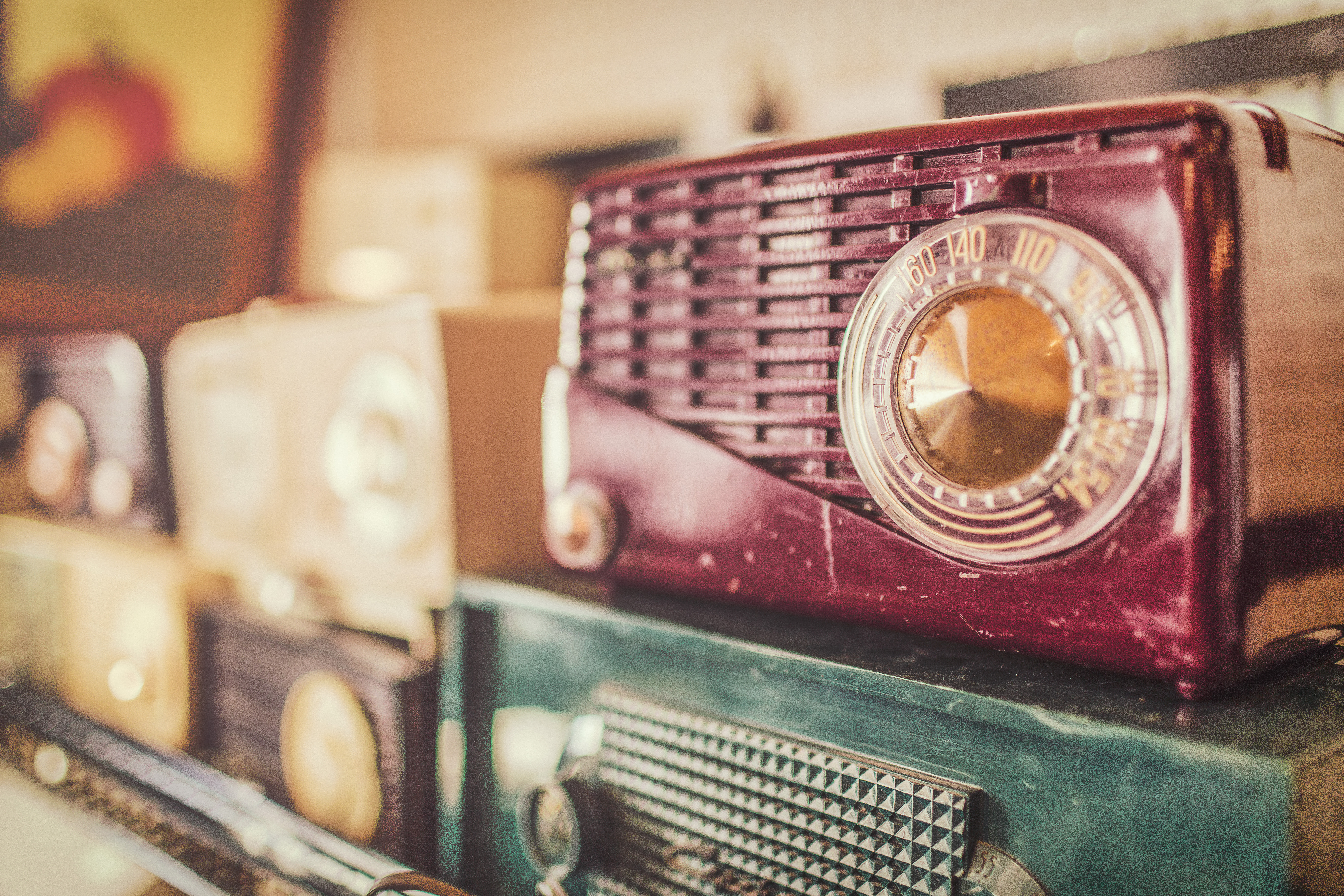 Free stock photo of vintage, radios