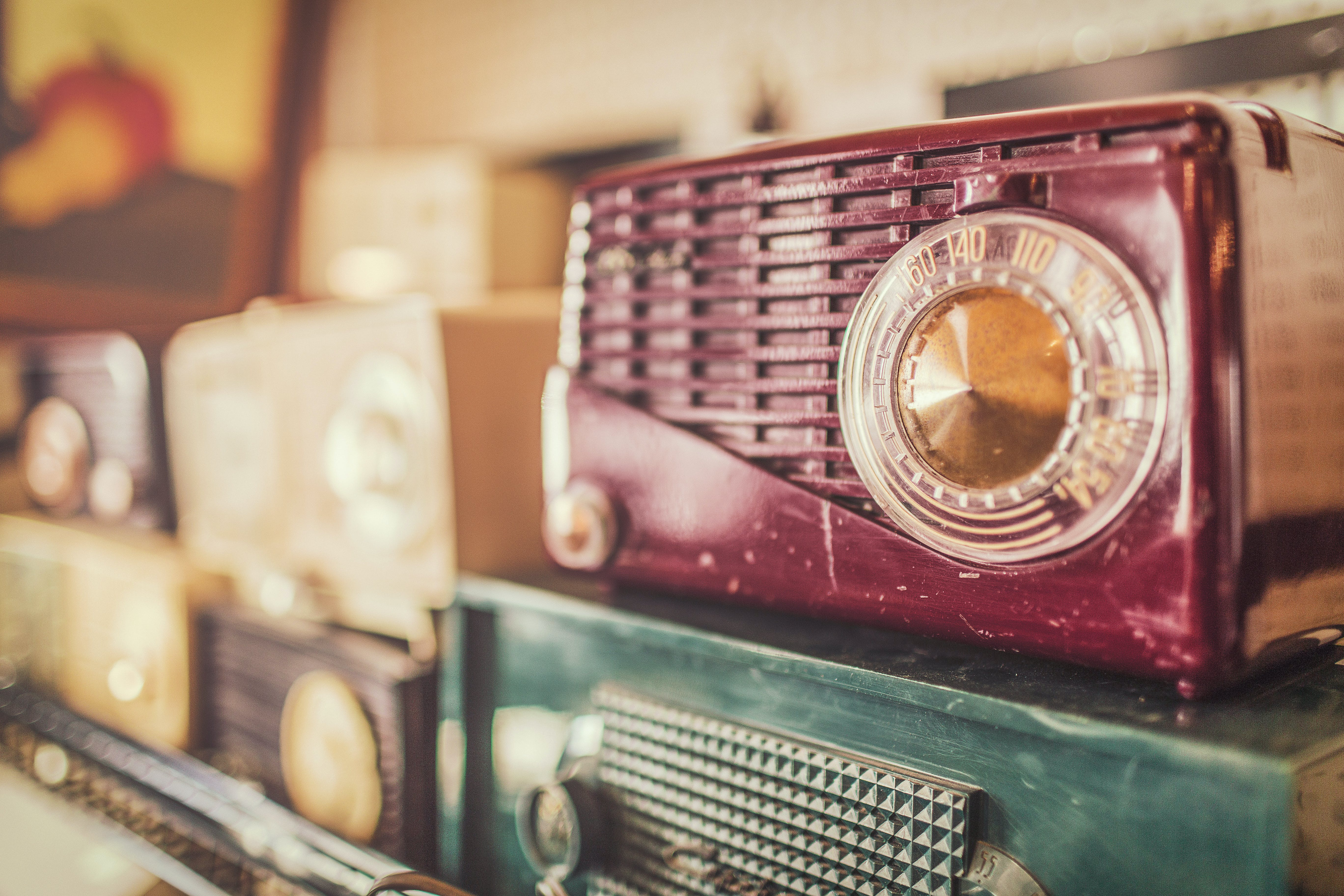Selective Focus Photography of of Radios