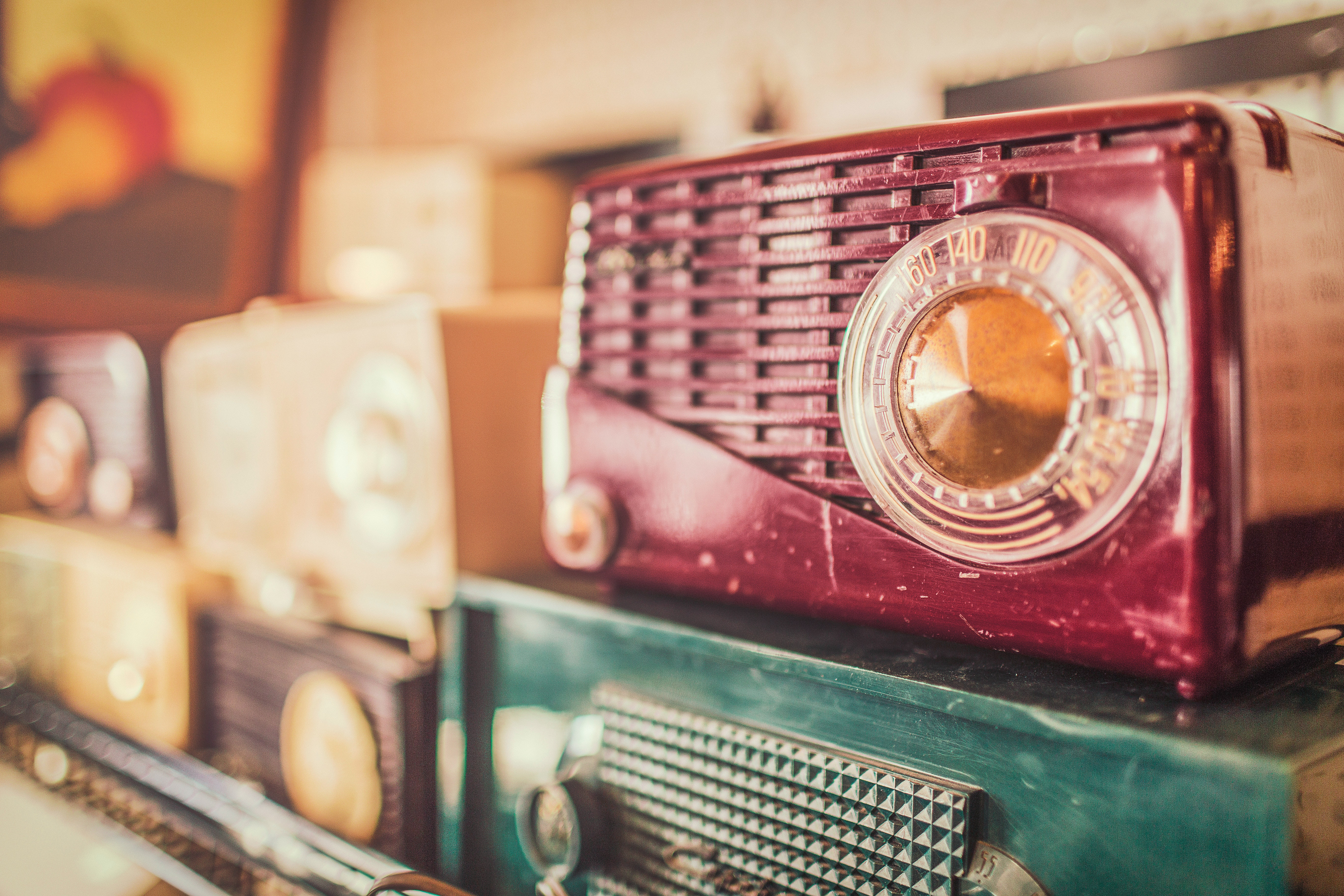 selective focus photography of of radios free stock photo