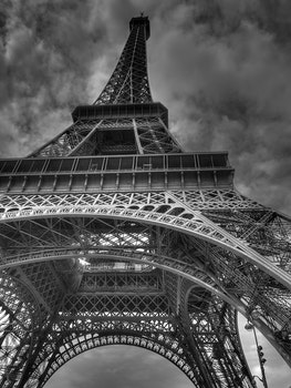 Free stock photo of black-and-white, eiffel tower, france, landmark