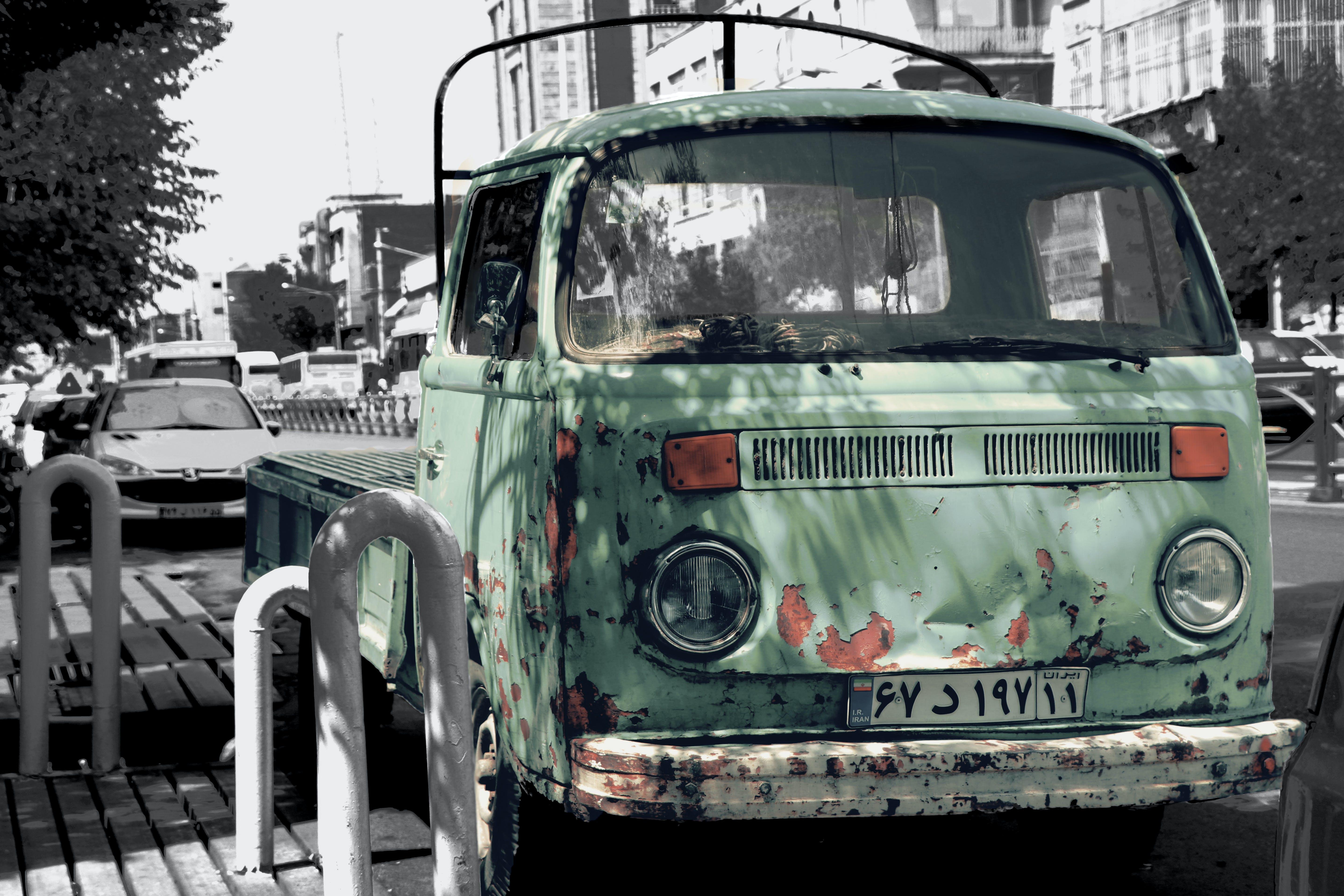 Free stock photo of #old #car #Tehran #street