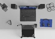 sunglasses, laptop, office