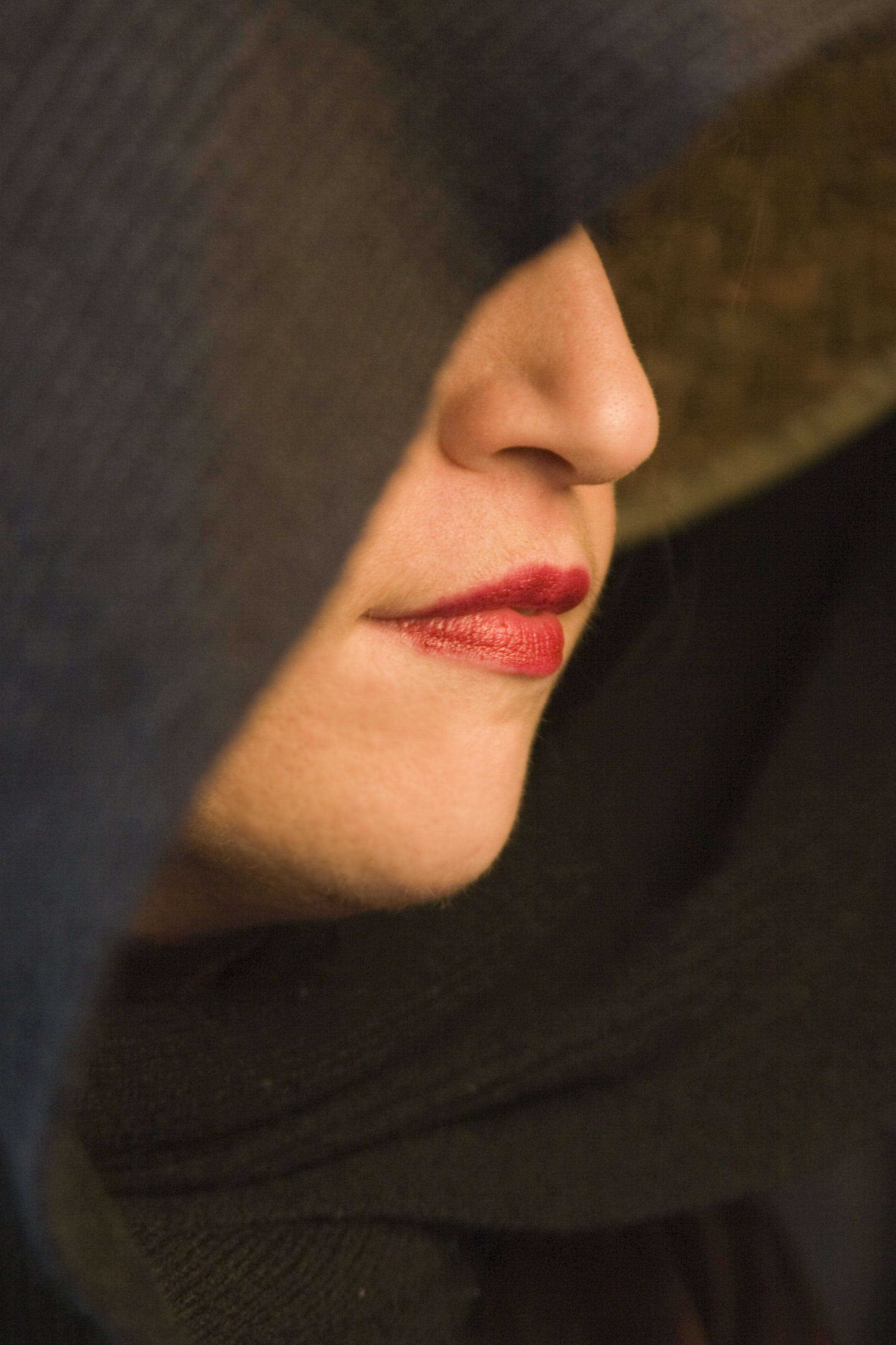 Close-up Photography of Woman Wearing Red Lipstick