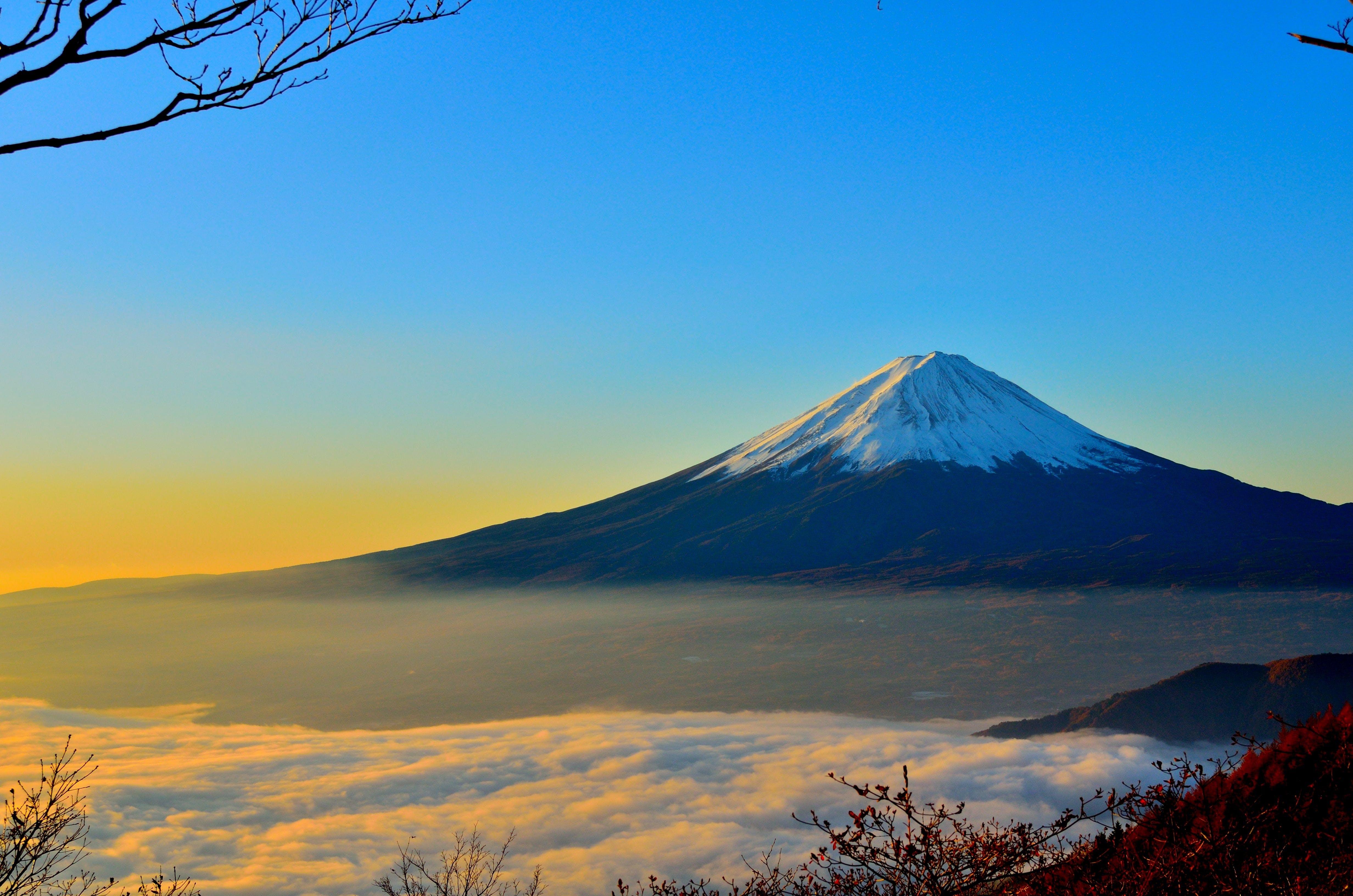 Kostnadsfri bild av bakgrundsbilder mac, berg, dimma, fuji