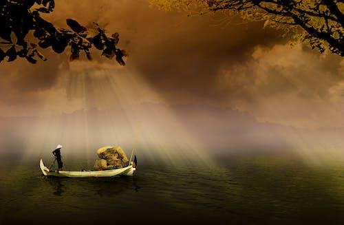 Fotos de stock gratuitas de agua, amanecer, barca, bote de remos