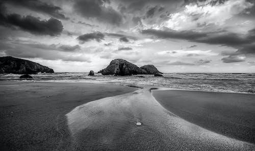 Free stock photo of aäÿva, beach, black and white