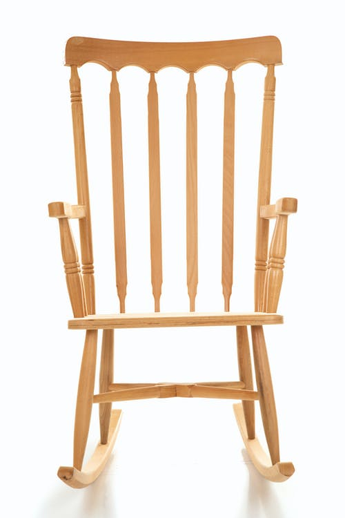 Brown Wooden Chair on White Background