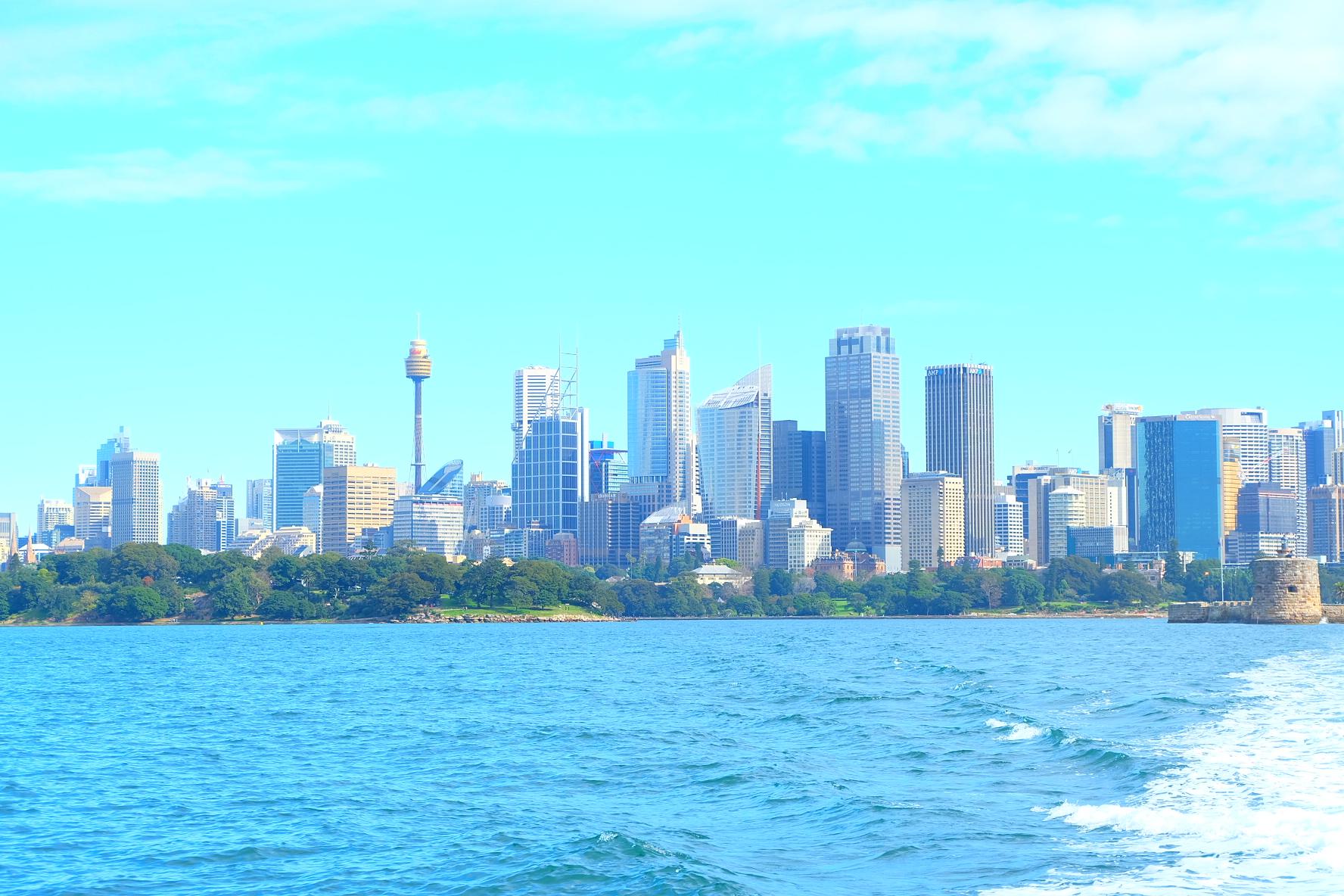 Free stock photo of sea, city, sky, landmark