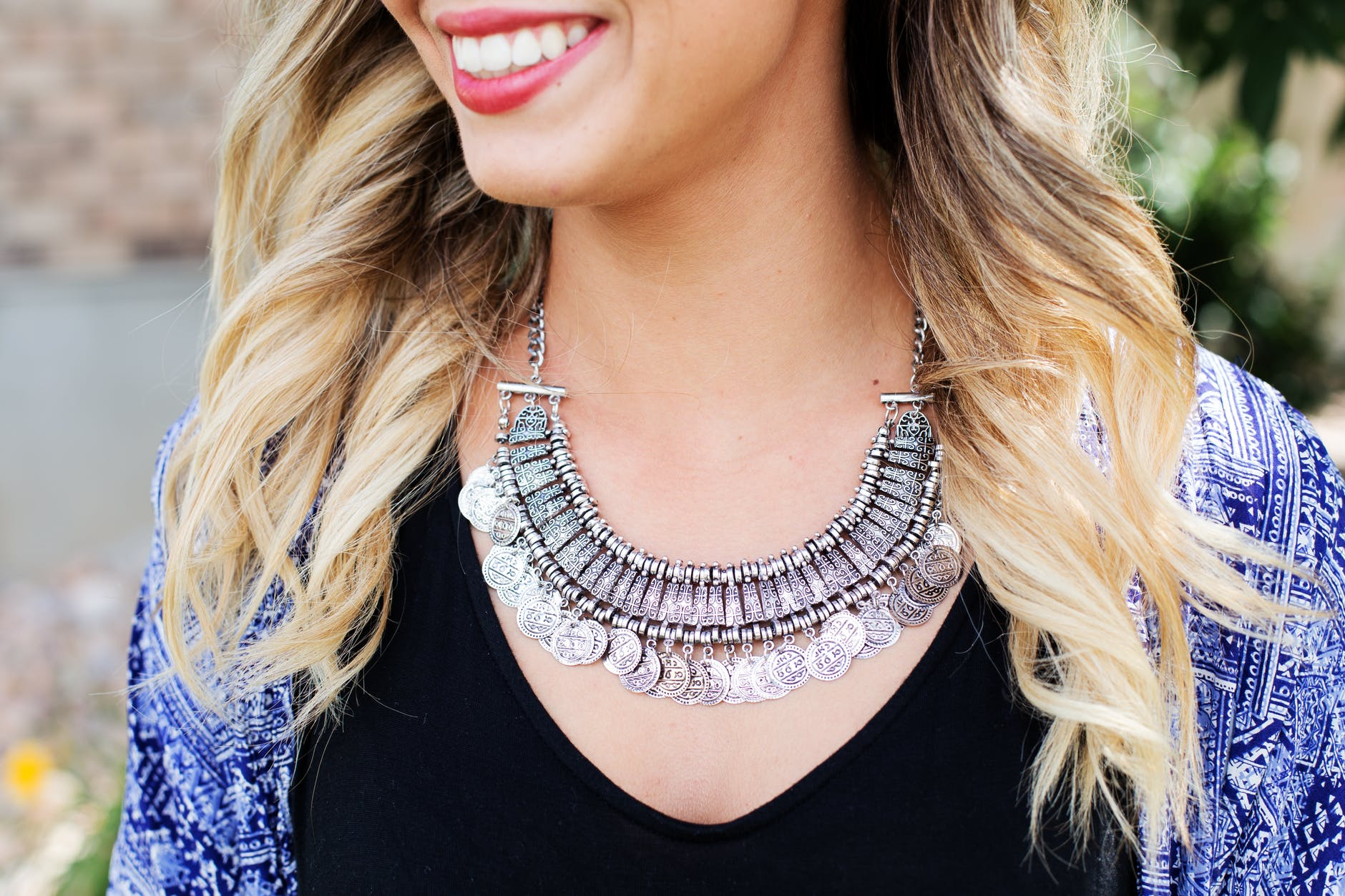 Accessorize your ensemble with chunky silver accessories