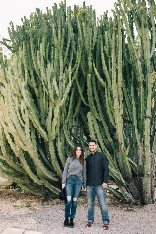 Photo Of People Standing Near Cactus Plants