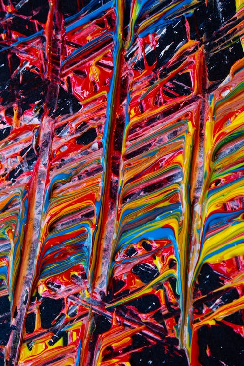 Close-Up Photo Of Abstract Painting