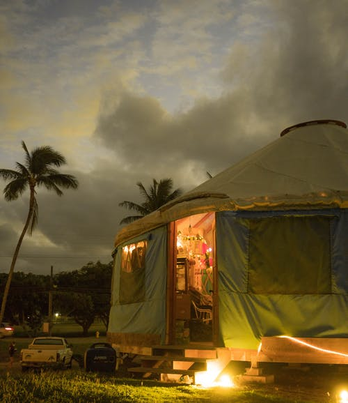 Photo Of Tent Under Cloudy Sky