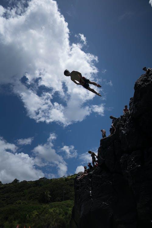 Fotos de stock gratuitas de acantilado, acción, al aire libre