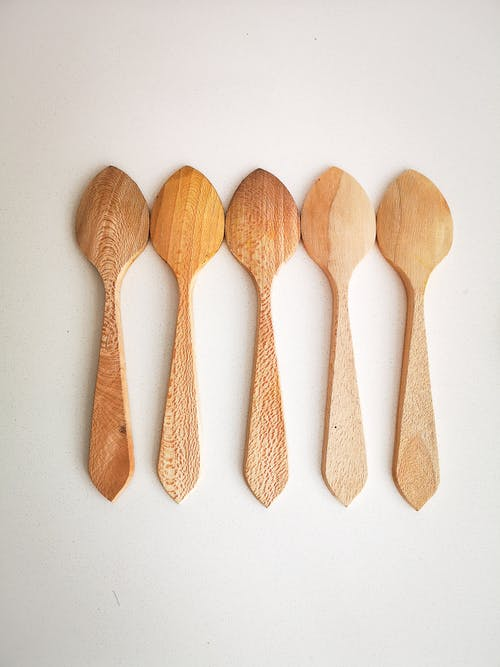 Free stock photo of brown, cutlery, natural, spoons