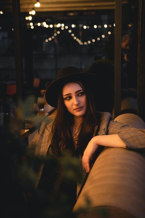 Photo Of Woman Wearing Black Fedora Hat