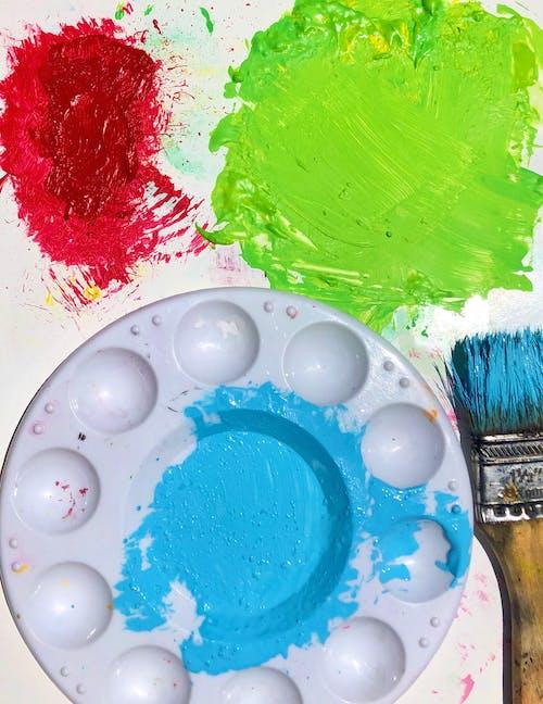 Free stock photo of acrylic, acrylic paint, acrylic painting, blue