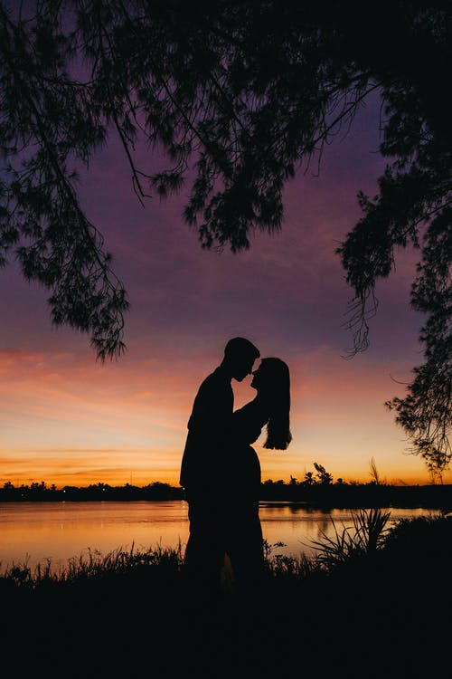 Silhouette Photo Of Couple