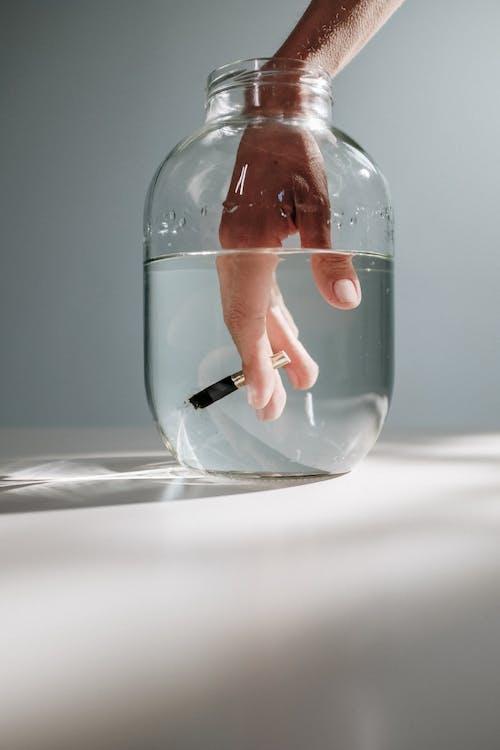 Ingyenes stockfotó alámerült, átlátszó, befőttes üveg témában